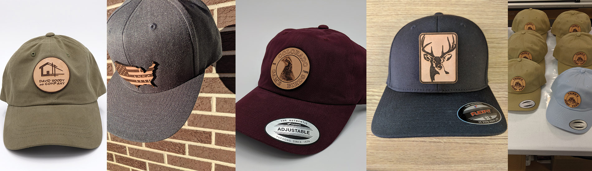 Custom Leather Patch Hats Embroidery Hats