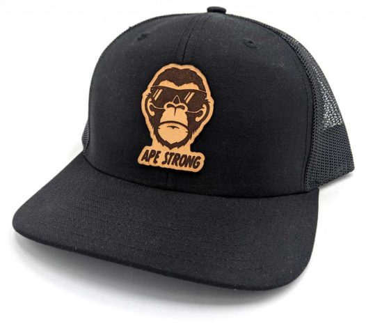 Ape-Strong-Leather-Patch-Ha-Snapback